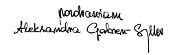 podpis aleksandra gabren-syller